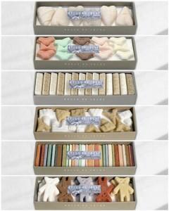 cajas de regalos de azucarillos diferentes