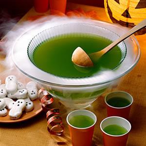 limonada verde para Halloween