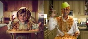 Foto de la infancia y remake