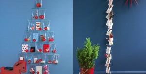 Calendarios de Adviento en bolsitas y vertical