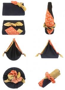 siete regalos envueltos con furoshiki