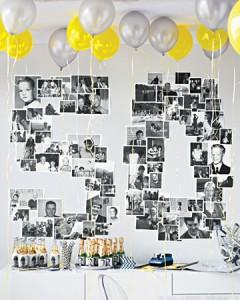Feliz 50 cumpleaños ilustrado con fotos