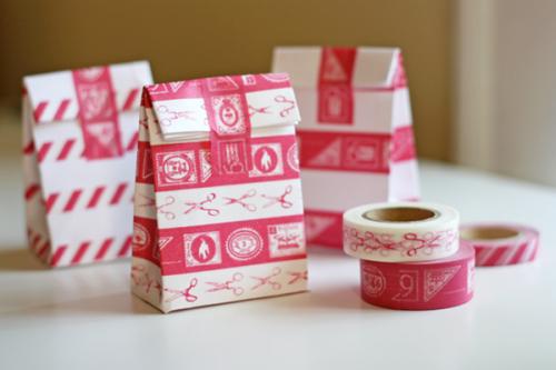 Bolsas envueltas con washi tape