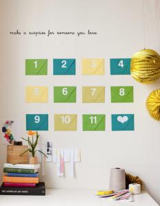 Idea de calendario de cuenta atrás para cumpleaños