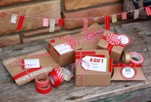 etiquetas y paquetes envueltos cinta japonesa