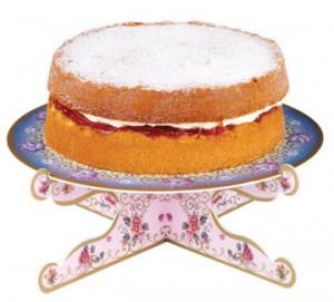 Stand para tartas azul y rosa