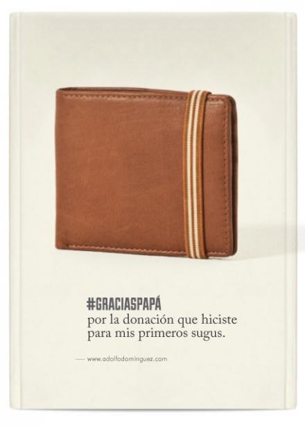 cartera de Adolfo Dominguez para el día del padre