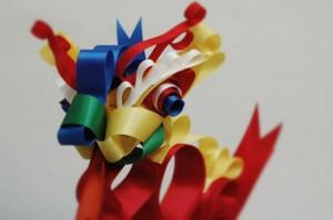Dragón hecho con lazos de Ribbonesia