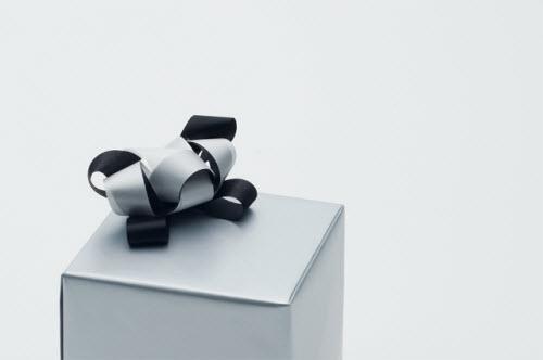 Panda hecho con lazos de Ribbonesia