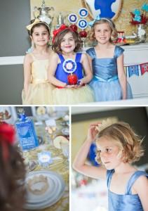 Coronas para las invitadas a la fiesta