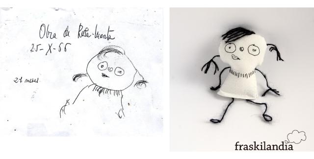 Dibujo hecho muñeca