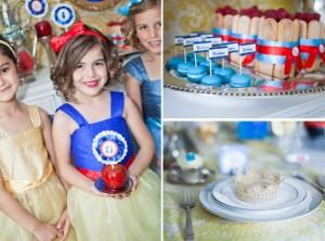 Macarons, bizcochos y coronas en la fiesta de Blancanieves