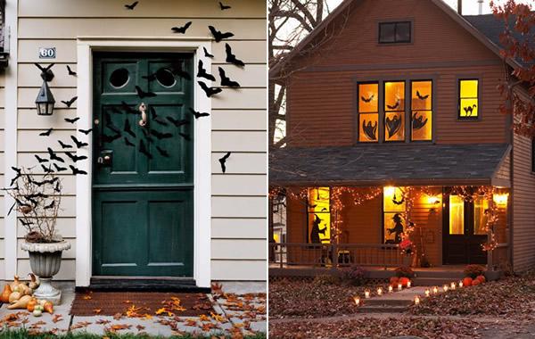 Decoración de Halloween: puerta y ventanas