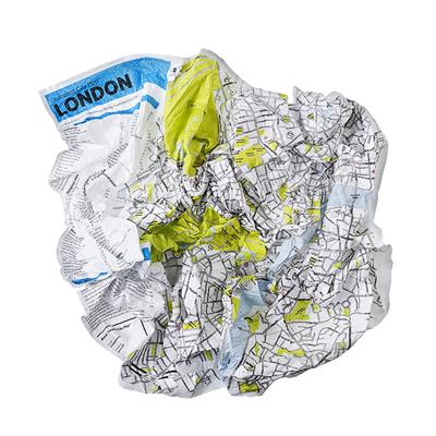 Crumpled city map de Londres