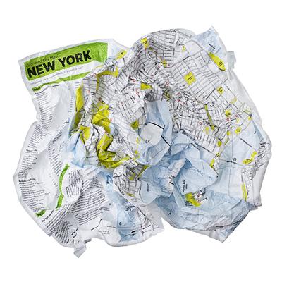 Crumpled city map de Nueva York